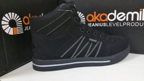 Akademiks Boy/'s High Top Sneakers Black Red//Lime//Grey Size 13.5-7 A532 A1532