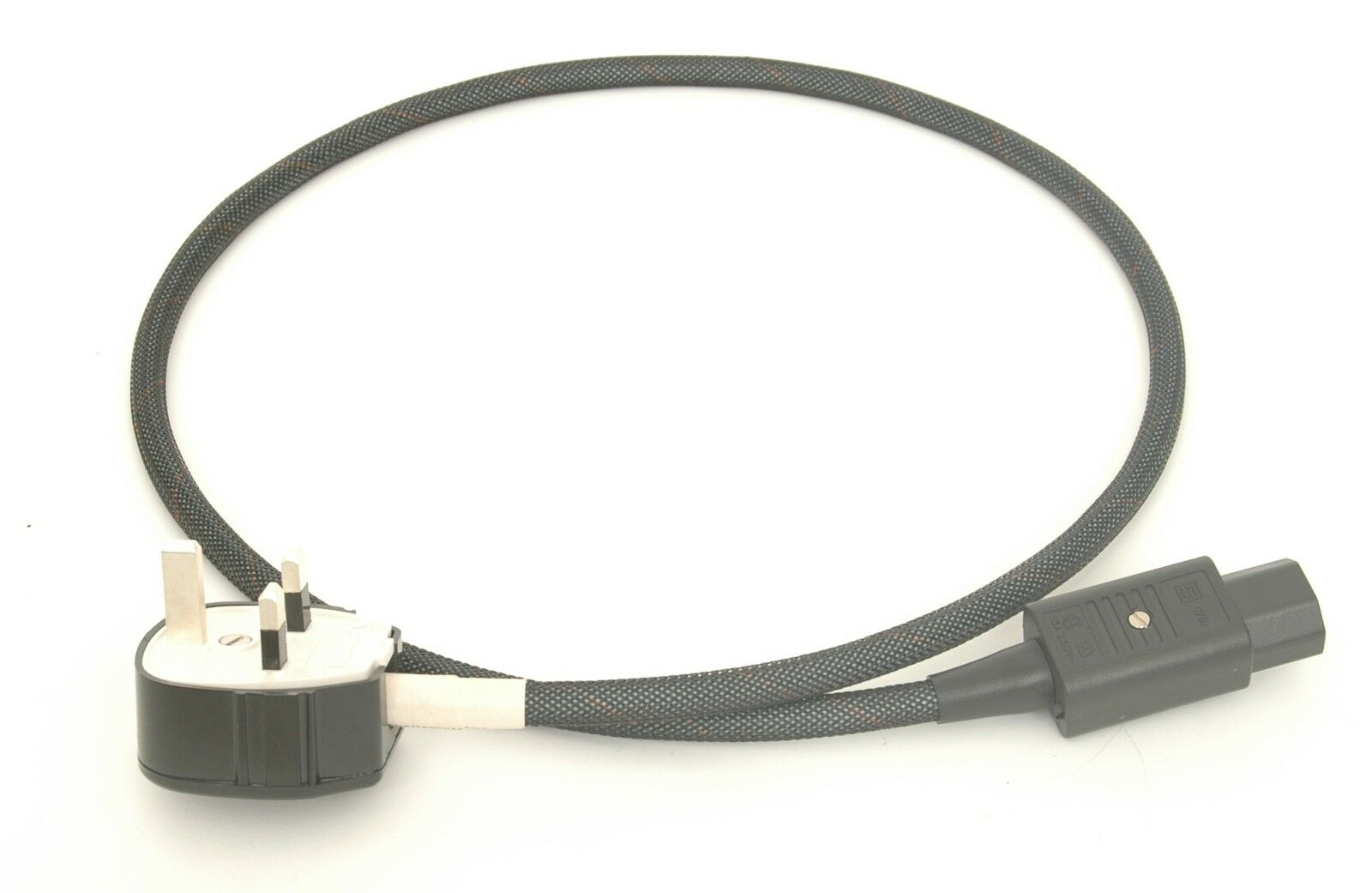 Mains cable 1.5m RFI shielded dual screen MK silver plug & silver IEC