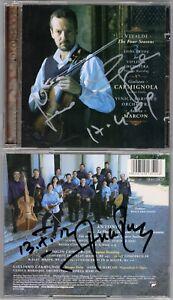Giuliano-CARMIGNOLA-amp-Andrea-MARCON-Signed-VIVALDI-Four-Seasons-Vier-Jahrezeiten