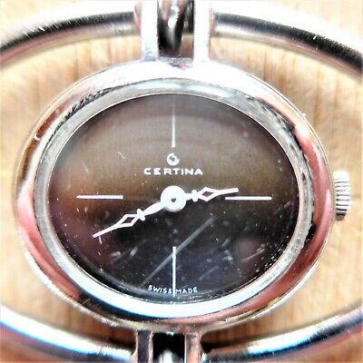 Certina Damen Armbanduhr, Swiss Made, Interess. Optik-0,925 Silber, Funktion Gut Durchsichtig In Sicht