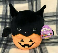 """8/"""" Emily the Bat in a Pumpkin Squishmallow 2020 Halloween Exclusive Kellytoy"""
