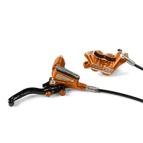 Hope Tech 3 V4 oranje Right  back w zwart Hose Brake w Vented rotor Nieuw