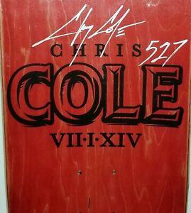 CHRIS COLE SIGNED BLACKOUT SKATEBOARD DECK LIMITED EDITION 666 BLACK Skull goth