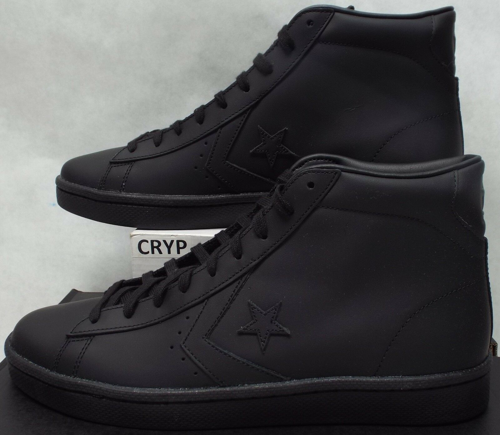 Homme 13 Converse All Star Player PL 76 Mid Triple Noir Leather 2018 155334C