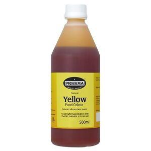 Preema Natural Yellow Food Colour 500ml 5055837815612 | eBay