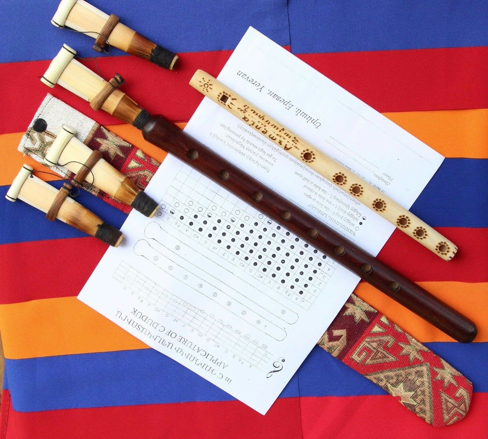 ARMENIAN DUDUK+4reeds+case, NEW FROM ARMENIA, Hand made APRICOT WOOD 100%+instr