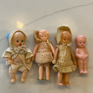 Vintage-Baby-And-Dollhouse-Dolls-Hard-Plastic-Jointed-Frozen-HK-Irwin