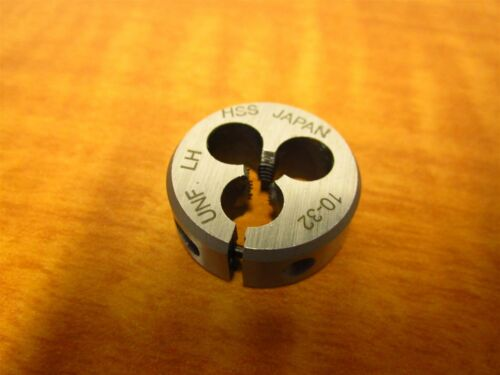 "UNF Left Hand High Speed Steel NEW 10-32 Adjustable Die 1/"" O.D"