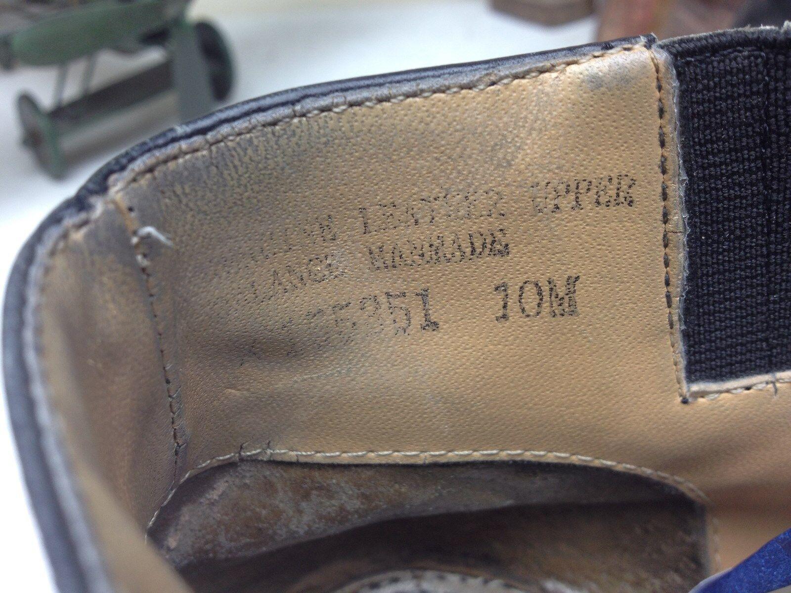 GIORGIO GIORGIO GIORGIO BRUTINI ZIP UP DISTRESSED schwarz LEATHER BEATLE Stiefel 10 M fd8f40