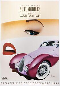Affiche Originale Louis Vuitton Classic - Razzia - Bagatelle - Automobile - 1993