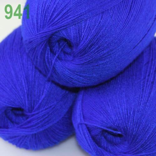 3balls x 50gr Soft Crochet Acrylic Wool Cashmere Hand Knitting Yarn Knitwear 41