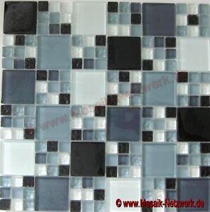Glasmosaik-Kombination-mix-grau-schwarz-grau-matt-Kueche-Art-78-0204-10-Matten