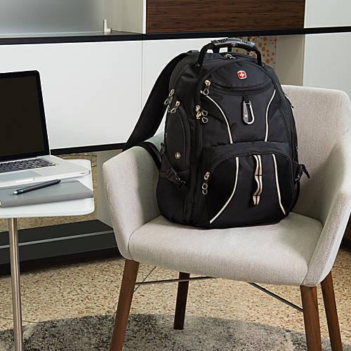 SWISS GEAR ScanSmart Backpack Hiking RED BLACK 17 In Laptop Computer Notebook S