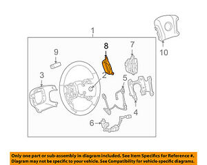 cadillac gm oem 07 11 dts steering wheel cruise control button rh ebay com