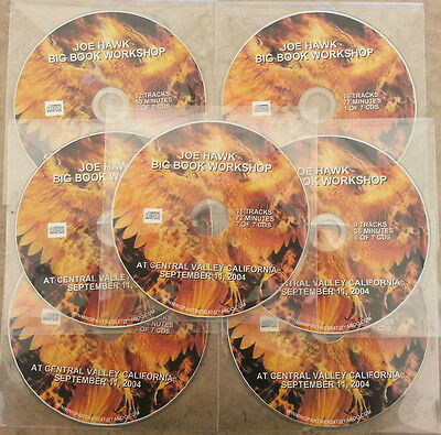 JOE HAWK 12 STEPS BIG BOOK 7 CDs ALCOHOLICS ANONYMOUS CD AUDIO