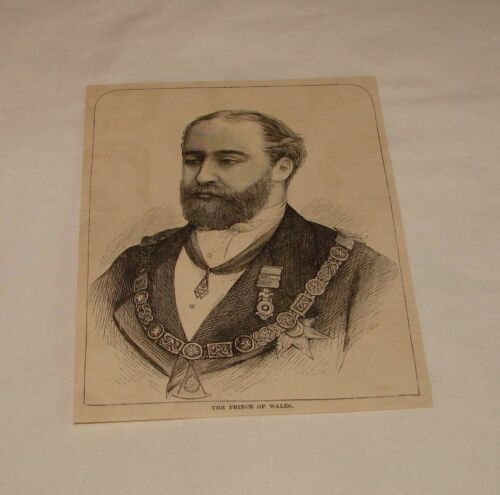 1886 magazine engraving ALBERT EDWARD, Prince of Wales