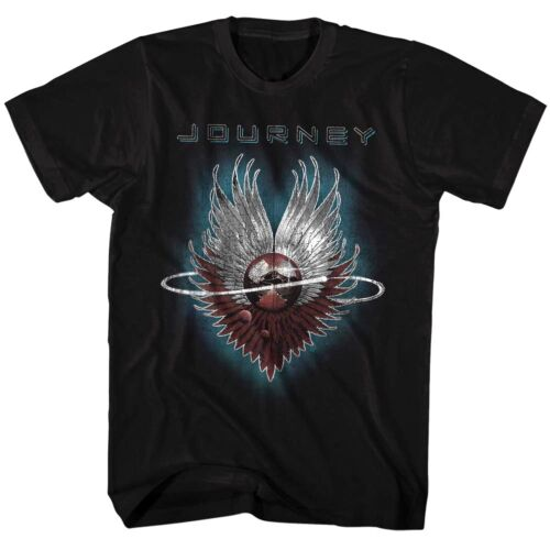 Journey Evolution Vintage Album Cover Men/'s T Shirt Rock Band Concert Tour Merch