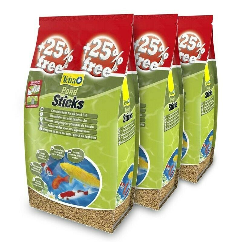 Tetra Pond Sticks - 40L + Extra Free (50L) x3 Bags