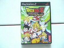 DragonBall/Dragon Ball Z Budokai Tenkaichi 3 Playstation 2 PS2 No Booklet