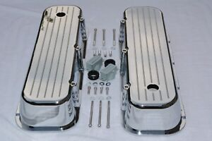 NEW BBC Ball Milled Aluminum Big Block Chevy 454 Tall Polished Valve Covers