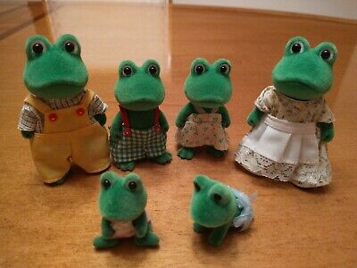 Calico Critters Frog Family And Twin Babies | eBay