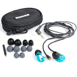 Brand-New-Shure-SE215-Sound-Isolating-Earphones-Black-or-Clear-or-Specical-Blue