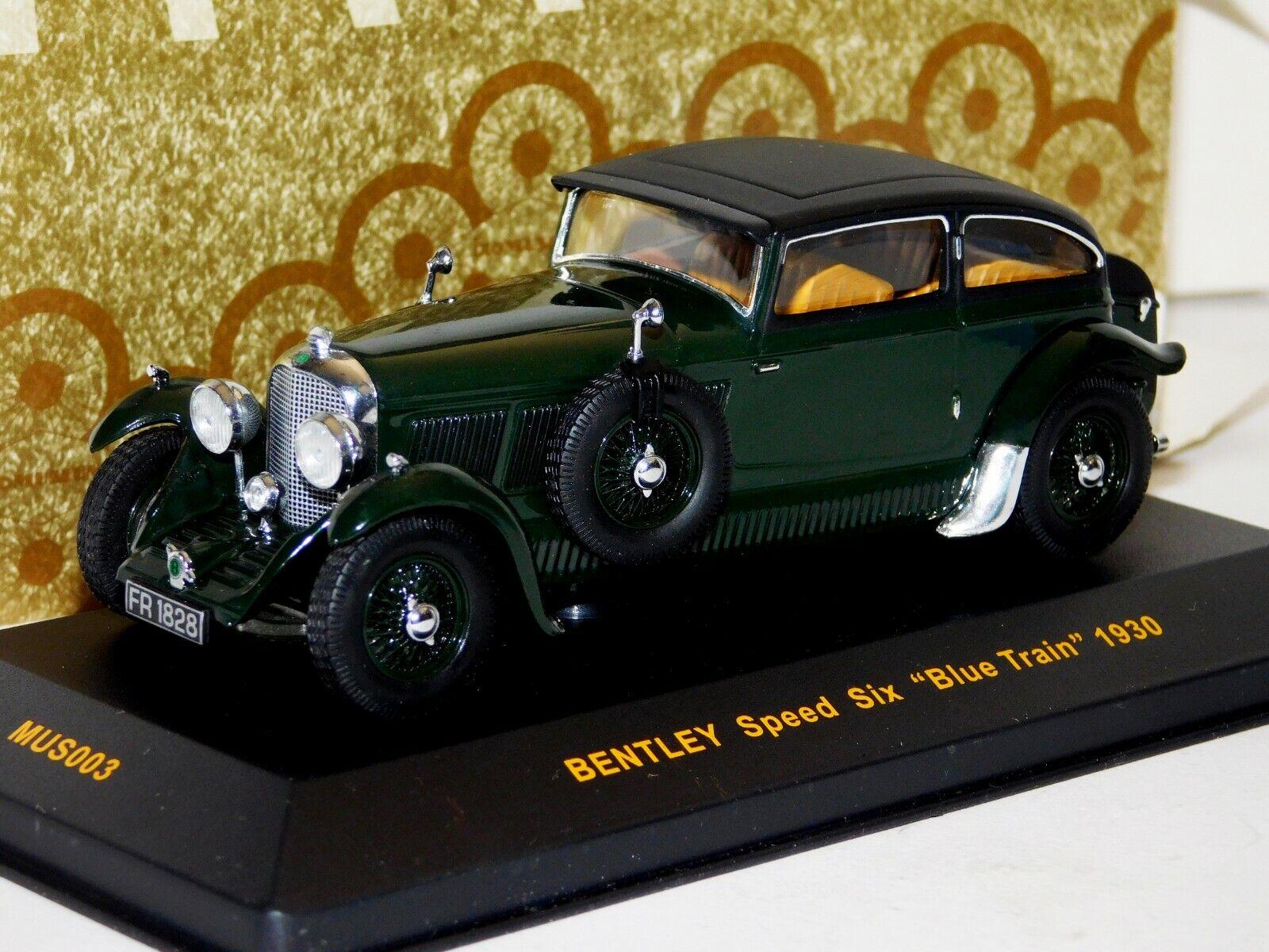 Bentley Speed Six  azul tren  1930 Ixo Museum MUS003 1 43