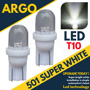 FORD-2x-501-T10-W5W-12V-LED-XENON-PARKING-SIDELIGHT-BULBS-PURE-WHITE-LIGHT