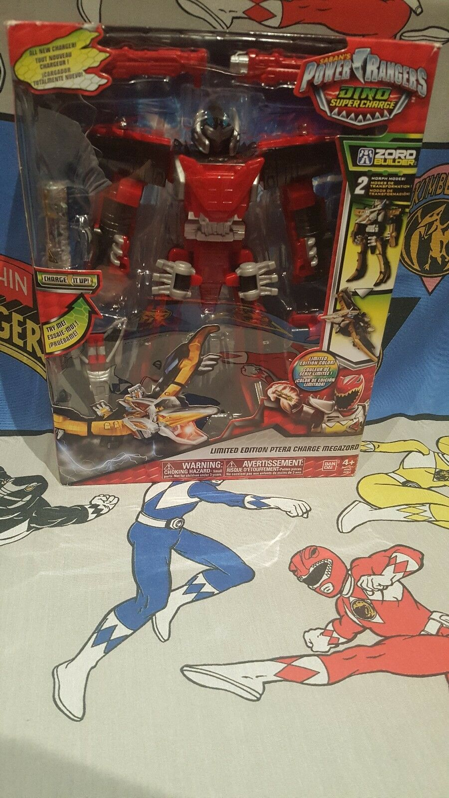 Power Rangers Limited Edition rosso Ptera Dino Super Charge Megazord