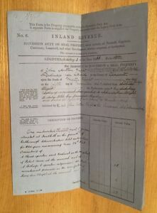 1866-Rodborough-Glos-John-Arthur-Flight-Revenue-Document