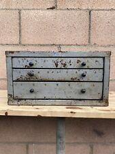 Huot 3 Drawer Drill Bit Cabinet A To Z All Metal Original Vintage Machinist