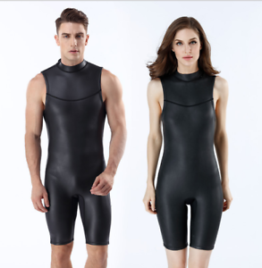 Men Women  2mm CR Neoprene Short Wetsuits Scuba Surf Swim Sleeveless Diving Suit  selling well all over the world