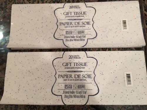 or 4 pack 20x20 White Colored Glitter Sparkle Premium Tissue Paper Giftwrap 1,2