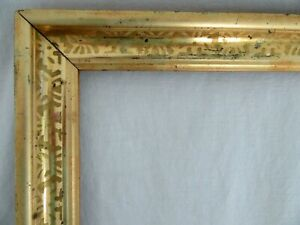 Antique-Fits-10-X-12-034-Lemon-Gold-Gilt-Picture-Frame-Stencil-Wood-Gesso-Fine-Art