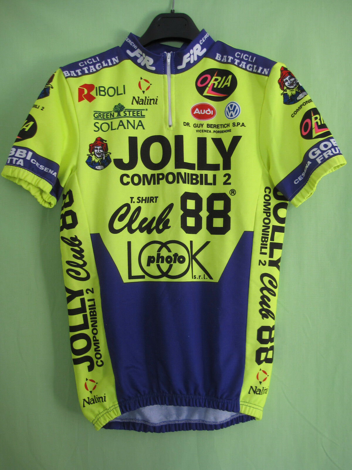 Maillot cycliste JOLLY COMPONINILI CLUB 88 Nalini Tour de France 1991 BE - M