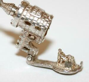 Opening-London-039-s-Bloody-Tower-With-Axeman-Sterling-Silver-Vintage-Charm-2-7g