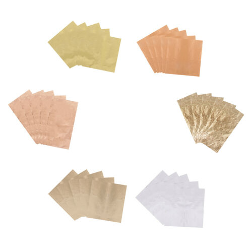 5 Sheets Gold Leaf Gilding Foil Paper for DIY Resin Jewelry Nail Art Craft