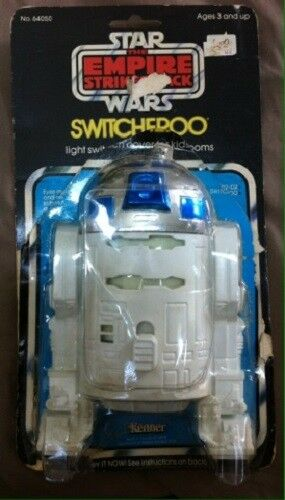 VINTAGE STAR WARS 1980 TESB EMPIRE R2-D2 SWITCHEROO SWITCH COVER WITH PACKAGING