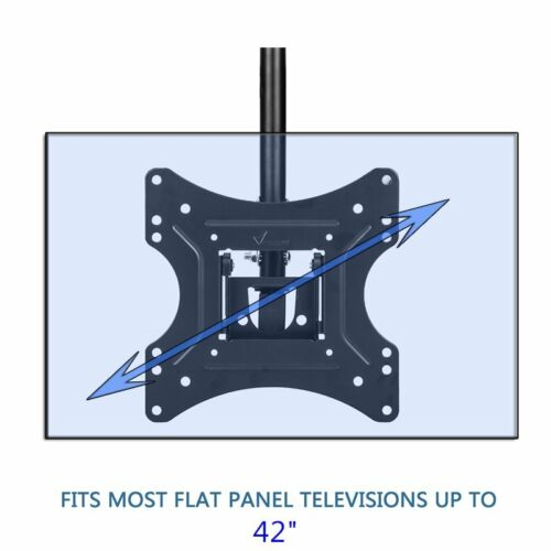 "26/""-70/""LCD Plasma Monitor Flat Tilting Swivel TV Ceiling Roof Mount Bracket US"