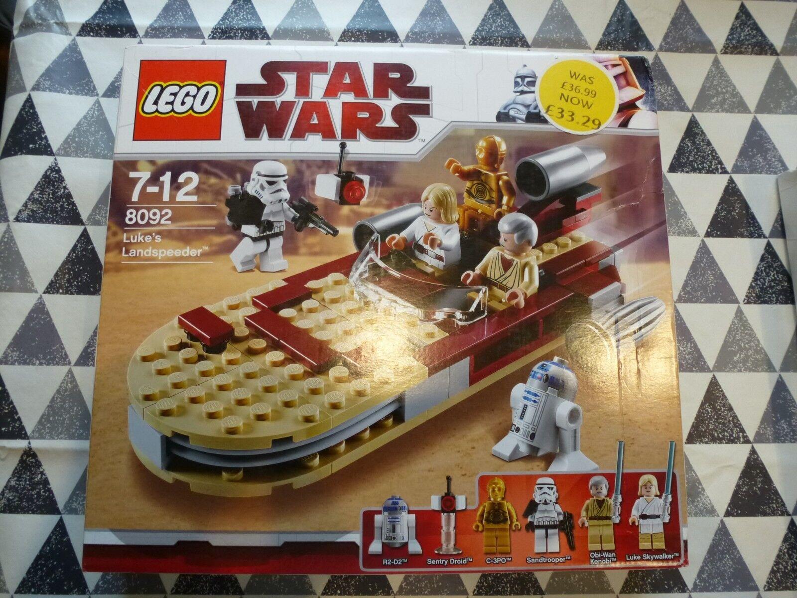 LEGO NEW 8092 Star Wars Lukes Landspeeder 2010  See Pics
