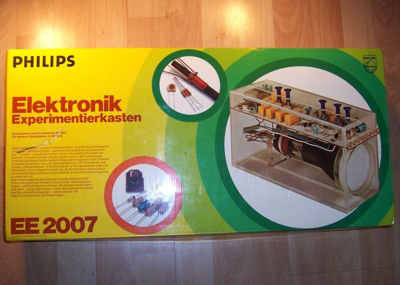 Philips Elektronik Experimentierkasten Experimentierkasten Experimentierkasten EE 2007  mit altes Anleitungsbuch 1975  | Zuverlässiger Ruf  035df8