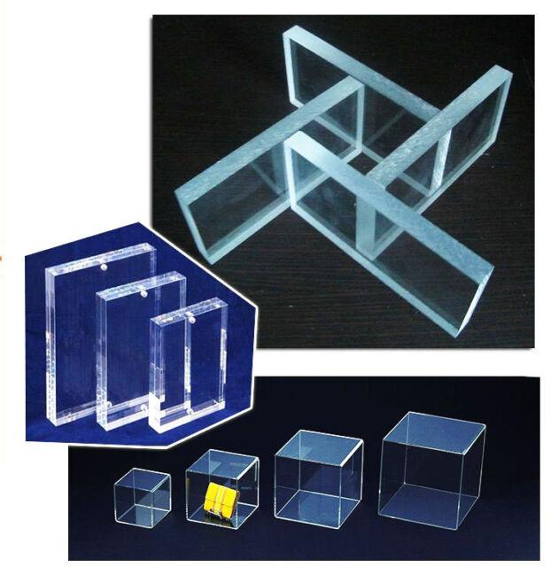 "Cell Cast Acrylic Plexiglass Clear Plastic Sheet 1/8"" X 8"" X 12"" AK260"