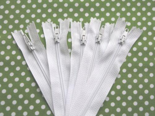 """Zips 18/"""" heavy duty nylon closed end zips in white 18 inch"""