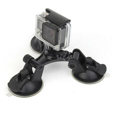 Low Angle Triple Suction Cup Mount Car Holder Stand for GoPro SJCAM Xiaomi YI 4K