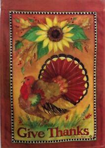 "Harvest Bounty Turkey Standard Flag by Toland,  28"" x 40"", Thanksgiving #2330"