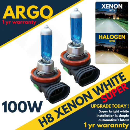 708 H8 100w Super Blanc Xenon Hid Effet Phare Ampoules Anti-brouillard 8500k