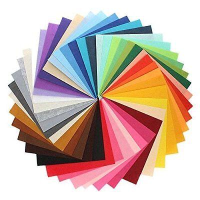 49PCS  Assorted Color Wool Felt Fabric Sheets Patchwork Sewing DIY Craft 10*10cm