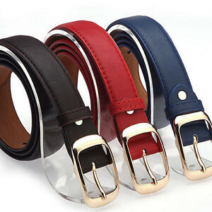 LC-MODA-DONNA-COLORI-PELLE-ALLOY-SPILLA-fibbia-cintura-Cinture-Cintura