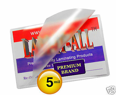 """100pk New 5MIL School 2-1//2/"""" x 3-5//8/"""" Laminating Pouches Free Shipping"""