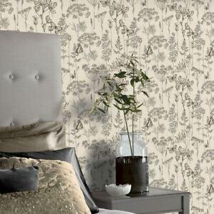 Arthouse-Ville-et-Pays-Prairie-Floral-Papier-Peint-Charbon-et-Orche-904105